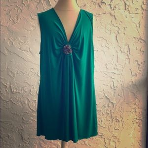 EUC Lane Bryant green sleeveless blouse 18/20